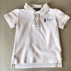 Polo RL Gray Polo Shirt Size 9 mos
